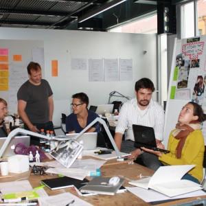 Dyskusje nad projektem. Fot. Alicja Pietrowska