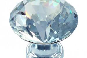 Uchwyty meblowe z kryształem i szkłem
