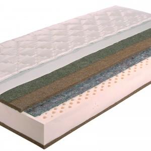 Materac lateksowy Zeus firmy Janpol. Warstwa końskiego włosia powstrzymuje rozwój bakterii i alergenów. Fot. Janpol