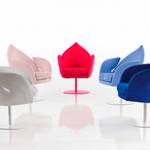 Fotele liście Dive są dostępne w wielu kolorach. Fot. Bruhl