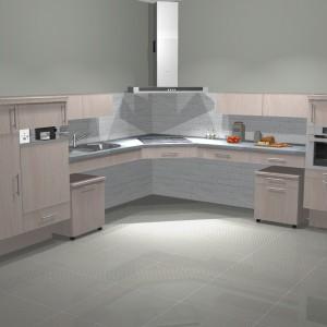 Nisko zamieszczone szafki i wnęki pod blatem kuchennym to świetne udogodnienia Fot. Luiza Woźniak, Estaco
