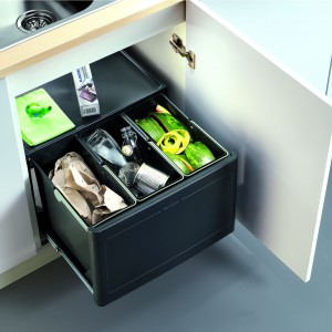 Segregator na 3 rodzaje odpadów