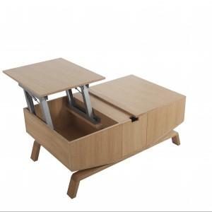 Stolik Crabo ma duże schowki, otwierane poprzez podnoszenie części blatu. Fot. Paged