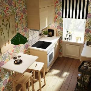 Mała, wąska kuchnia? Nie ma problemu. System Metod sprawdzi się w każdych warunkach. Fot. IKEA