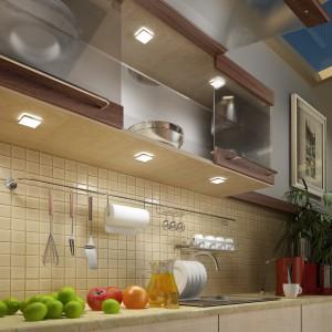 """""""Punktiko LED"""", firmy Britop Lighting. Barwa światła: biały ciepły, biały zimny lub niebieski. Oświetlenie przeznaczone do montażu zarówno wewnątrz szafki, jak też montażu nawierzchniowego. Fot. Britop Lighting"""