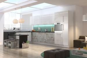 """""""Vertigo Line"""" - przestrzeń w kuchni"""
