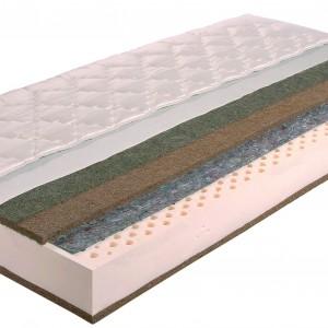 """""""Zeus"""" Janpol Wypełnienie materaca tworzy płyta lateksowa o grubości 12 cm, obłożona obustronnie płytą kokosową. Lateks otrzymywany jest dzięki połączeniu naturalnego mleczka z drzewa kauczukowego z lateksem syntetycznym. W efekcie powstaje elastyczny, przewiewny, odporny na odkształcanie materiał, o wyjątkowych właściwościach przeciwgrzybiczych. Fot. Archiwum"""
