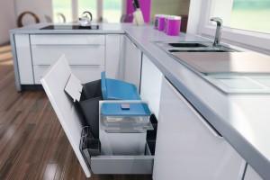 Nowoczesna kuchnia. 5 pomysłów na segregację śmieci