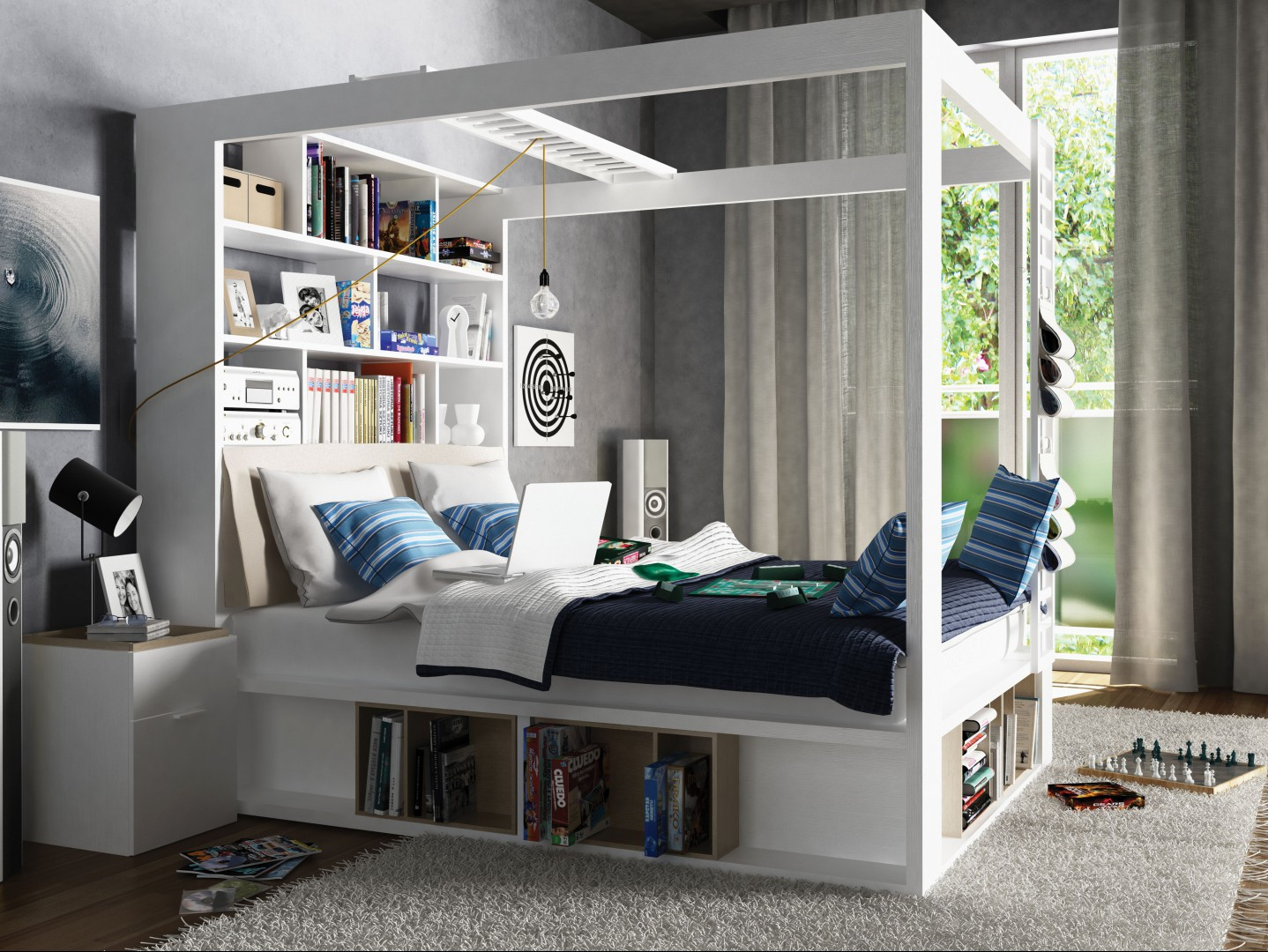 Wielofunkcyjne łóżko z kolekcji 4You (Vox). Projekt: Joanna Leciejewska, Piotr Kuchciński. Fot. Vox