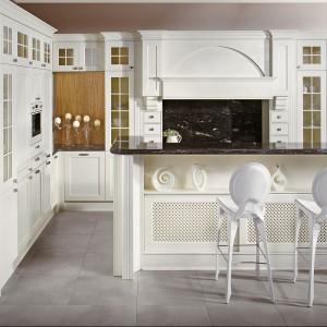 Eleganckie i finezyjne krzesełka barowe zdecydowanie grają pierwsze skrzypce w kuchni