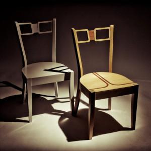 Krzesła zaprojektowane przez Marcina Skubisza. Fot. Archiwum.