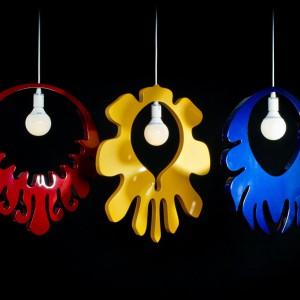 Lampy projektu Marcina Skubisza nawiązują stylistycznie do motywów folkowych. Fot. Archiwum.