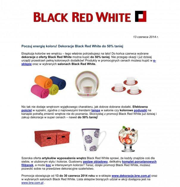 Okazje Black Red White Dekoracje Nawet Do 50 Taniej