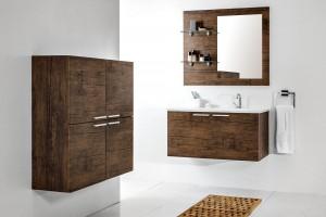 Drewno w łazience - meble w kolorach natury