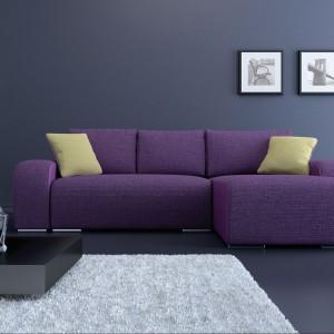 Sofa Rock Lux to narożnik z dużą powierzchnią spania i pojemnikiem na pościel. Fot. BRW