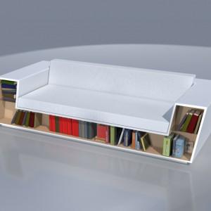 Sofa ze schowkiem na książki. Fot. Archiwum