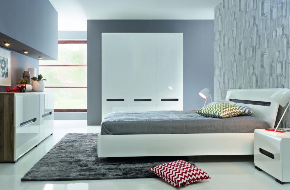 Sypialnia Azteca to meble w minimalistycznym stylu, które nadadzą każdemu wnętrzu nowoczesnej elegancji. Cena mebli na zdjęciu 2.926 zł. Fot. Black Red White