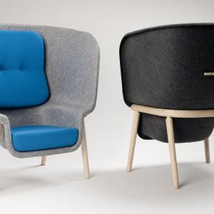 Fotele Pod idealnie dopasowują się do ciała użytkownika dając mu wiele przestrzeni i komfortu. Fot. Archiwum projektanta