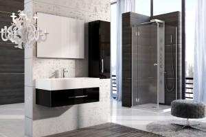 Czerń i biel w duecie - interesujące propozycje mebli do łazienki