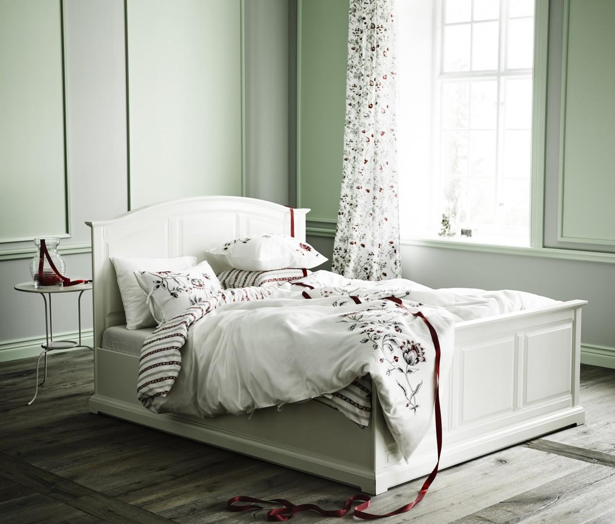Katalog Mebli Birkeland łóżko Skąpane W Bieli Meble