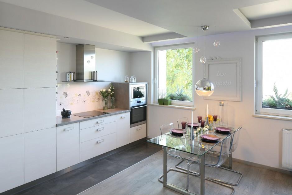 Urządzamy  Aneks kuchenny Modne pomysły na kuchnię w   -> Kuchnia Otwarta Na Salon Biala
