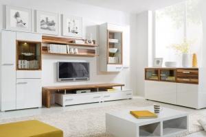Białe meble. Zobacz piękne kolekcje ocieplone drewnem