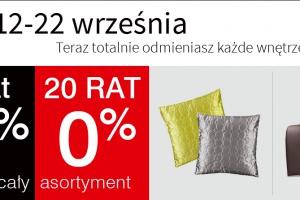 Rabat 10% na cały asortyment oraz 20 rat 0%