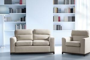 Sofa w salonie. Małe, dwuosobowe modele
