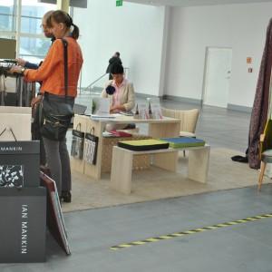 Na stoisku firmy Ridex pojawiła się m.in. tkaninowa oferta marki Ian Mankin - dostępna w Polsce od lutego br. Fot. Agnieszka Błachowska