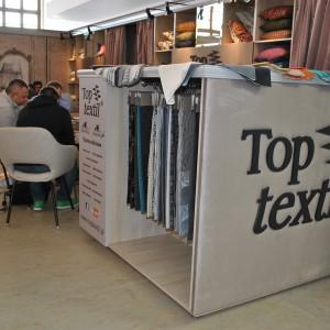 Toptextil pokazał na targach swoją aktualną ofertę tkanin obiciowych, oraz przykładowe nowości z segmentu