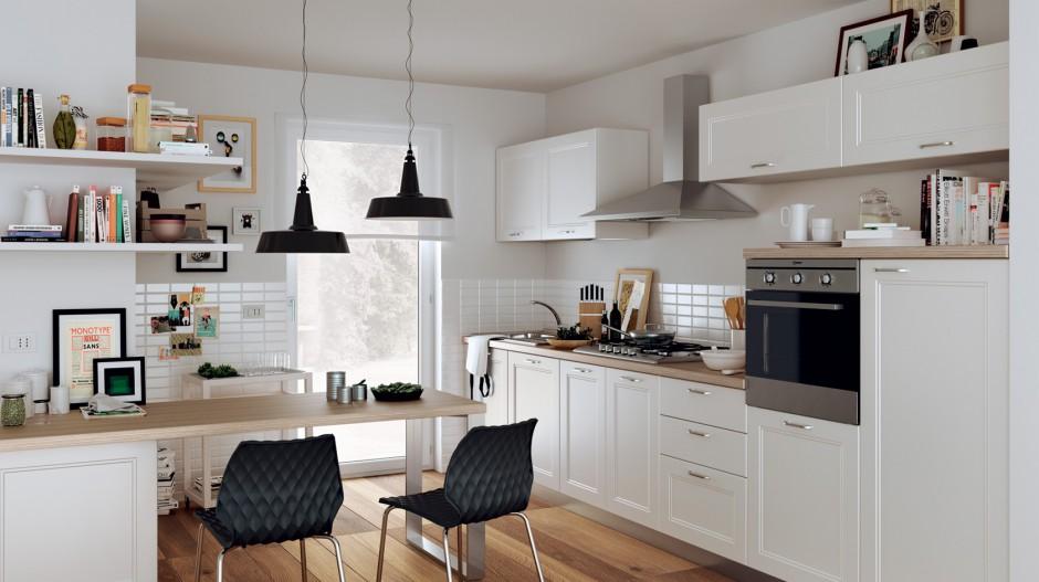 Urządzamy  Mała kuchnia z jadalnią  sprytna i ładna  -> Kuchnia Biala Lakierowana Cena