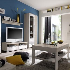 Drewno i biel to połączenie, które modelowo wpisuje się w obowiązujące trendy wyposażenia wnętrz. Na zdjęciu kolekcja