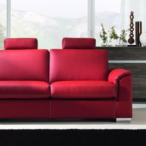 Sofa Andrea daje możliwość wyboru z szerokiej palety kolorystycznej dostępnych skór. Fot. Wajnert