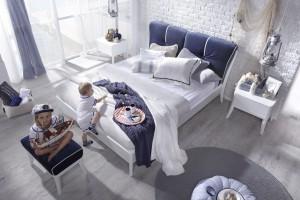 Łóżko w sypialni. Modele z miękkim zagłówkiem