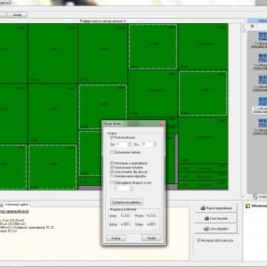 """Przykładowy rozkrój arkusza w programie """"CAD Rozkrój"""". Fot. CAD Projekt K&A"""