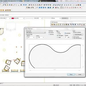Dzięki programom do wykroju płyt możliwe jest zaprojektowanie nawet nietypowego blatu. Fot. CAD Projekt K&A