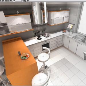 Przykładowy wygląd projektowanej przestrzeni kuchennej. Fot. CAD Projekt K&A