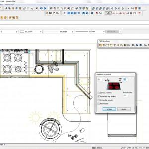 Zaplanowanie rozmieszczenia AGD w kuchni jest bardzo ważne. Dzięki programom do projektowania jest to znacznie łatwiejsze. Fot. CAD Projekt K&A