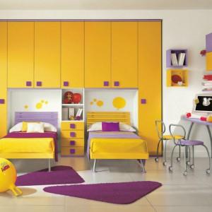 Żywe kolory i dużo miejsca do przechowywania - idealne rozwiązanie do pokoju dziecięcego. Fot. Colombini Casa