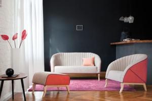 """Sofa """"Shelly"""" - uwodzicielski kształt muszli"""