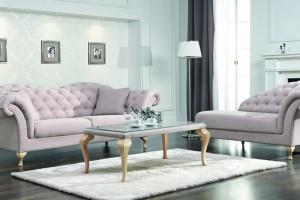 Wnętrza w stylu glamour – pikowane meble i dodatki