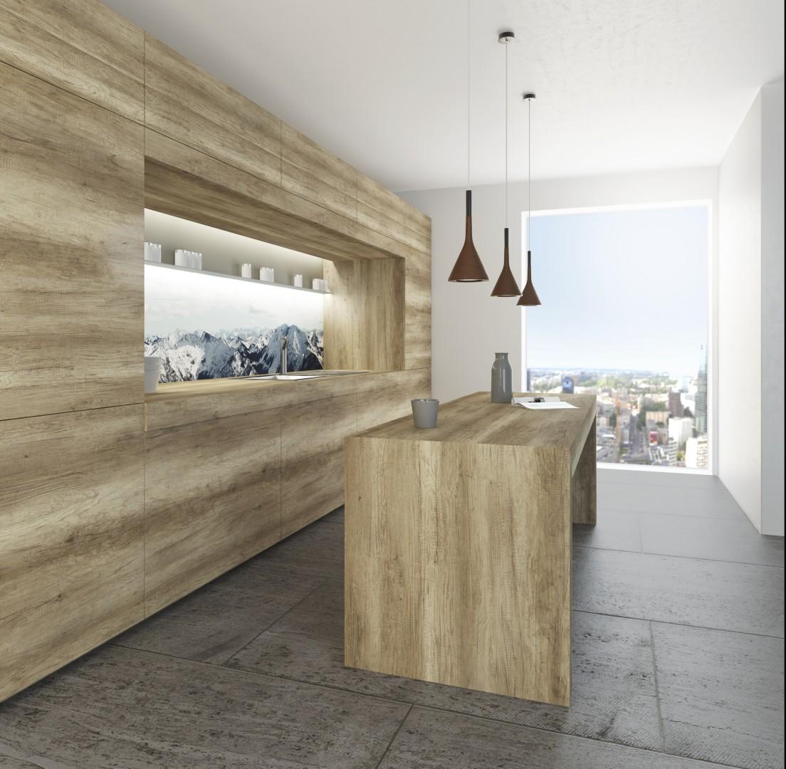 Produkcja Mebli Struktura Drewna W Kuchni Zawsze Modna