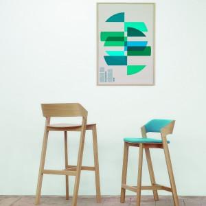 Merano, wysokie krzesła barowe, powstały jako kontynuacja fotela Merano. Fot. TON