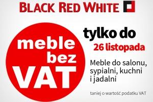 Black Red White obniża ceny mebli o wartość podatku VAT