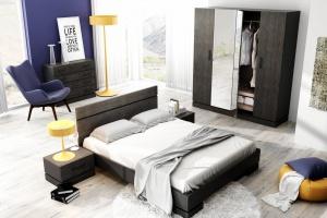 10 inspiracji na ciemne meble do sypialni