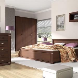 Sypialnia Venti o prostych kształtach. Fot. Meble Wójcik