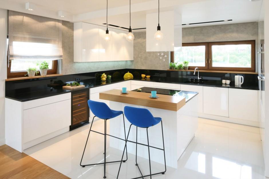 Urządzamy  Nowoczesna kuchnia Piękne meble na wysoki połysk  meble com p -> Urządzamy Mieszkanie Kuchnia