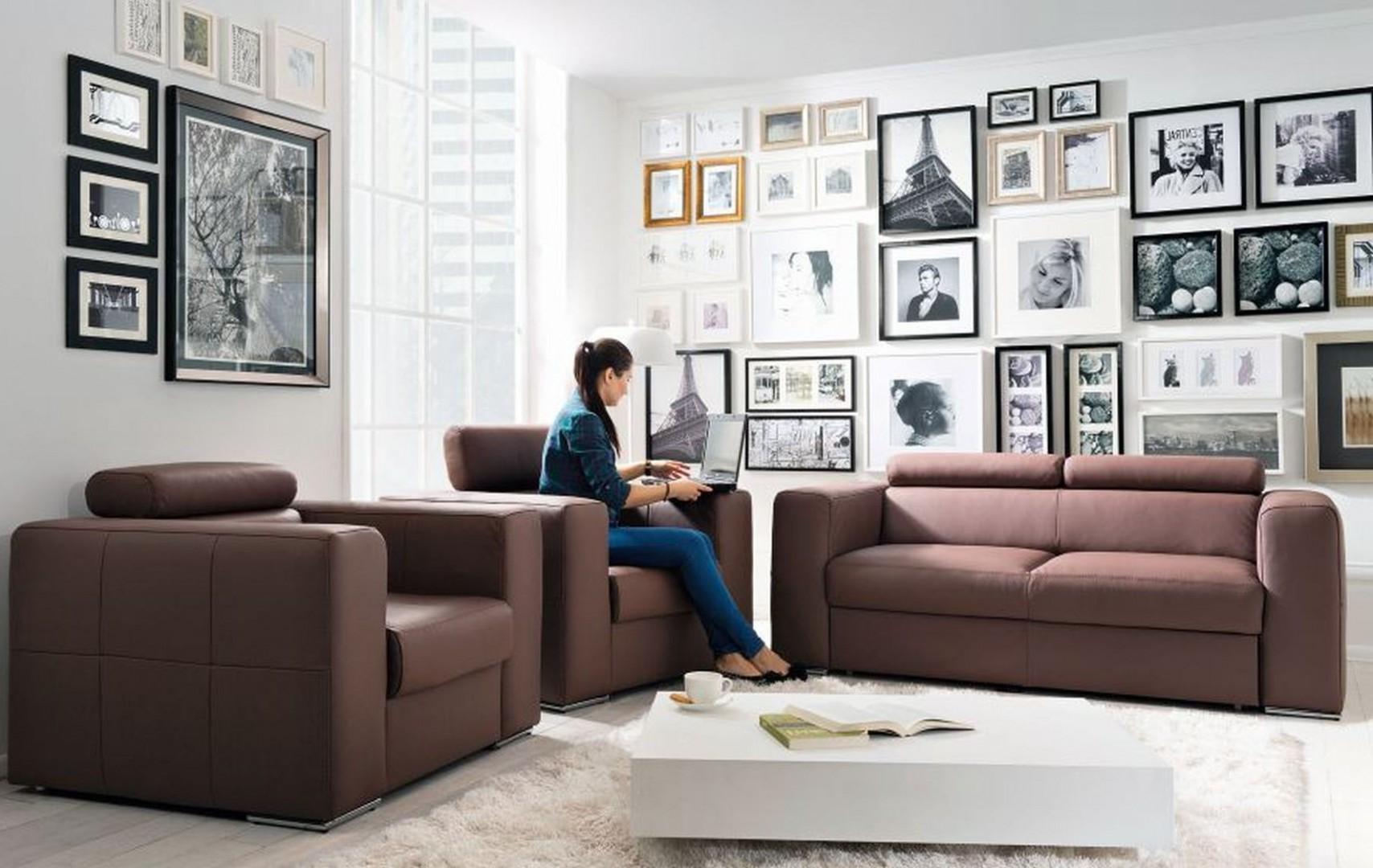 """Sofa """"Enzo"""" marki Black Red White z funkcją spania bez pojemnika na pościel. Fot. Black Red White"""