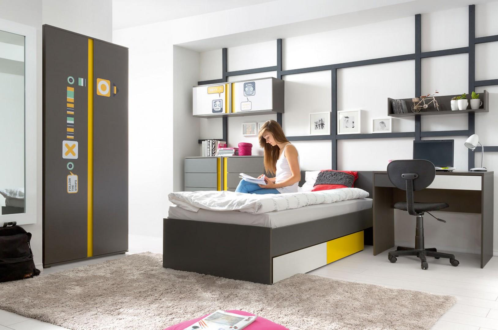 System modułowy Graphic doskonale sprawdzi się w nowoczesnych pokojach dziecięcych i  młodzieżowych. Fot. BRW