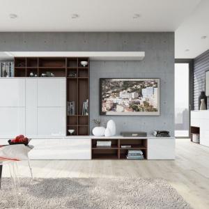 Kolekcja Loft to nowoczesne meble, z dużą ilością miejsca do przechowywania. Fot. Szynaka Meble